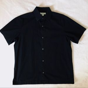 Banana Republic Slim Fit Black Short Sleeve Shirt